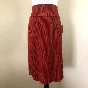 LuLaRoe Striped Cassie Pencil Skirt
